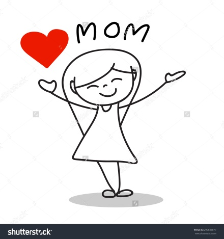 stock-vector-hand-drawing-cartoon-love-mom-happy-mother-s-day-299683877